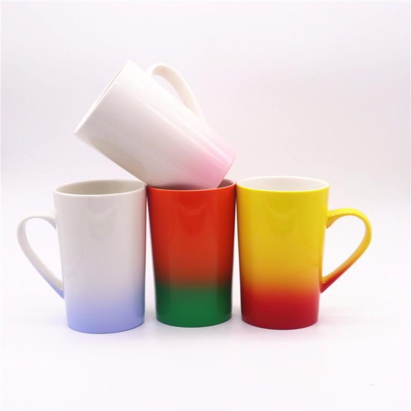 multicolor glitter sublimation ceramic mugs