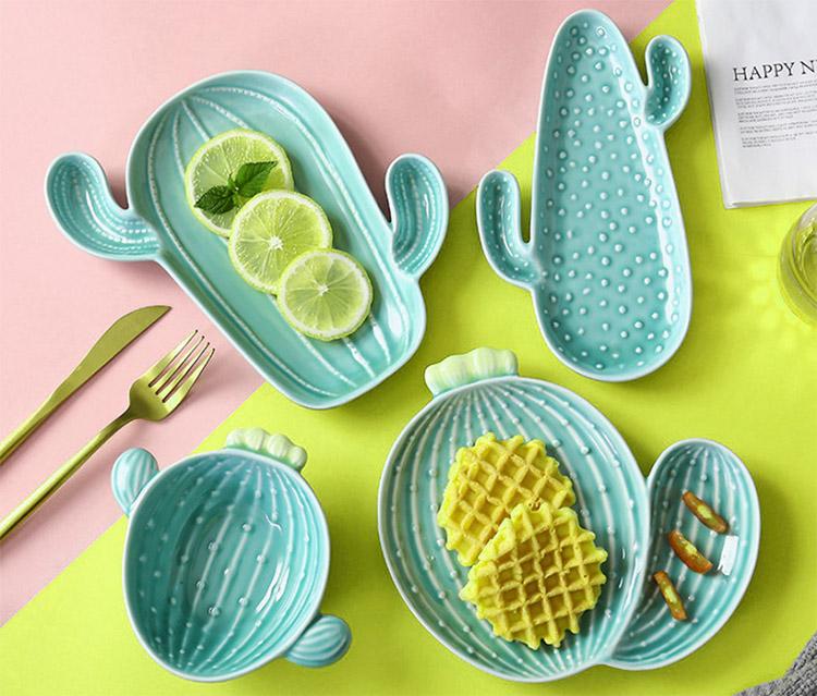 special ceramic cacti plate