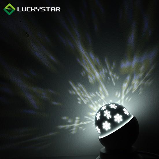 Batteriebetriebene Schneeflocken-LED-Lampe