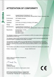 CE-Konformitätsbescheinigung