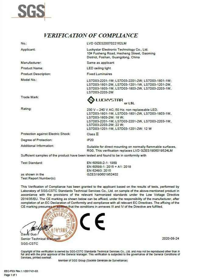 SGS-Zertifizierung