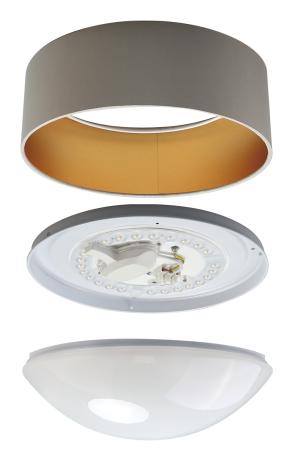 LED-Stoff-Deckenleuchte LS7D15-1203-1G