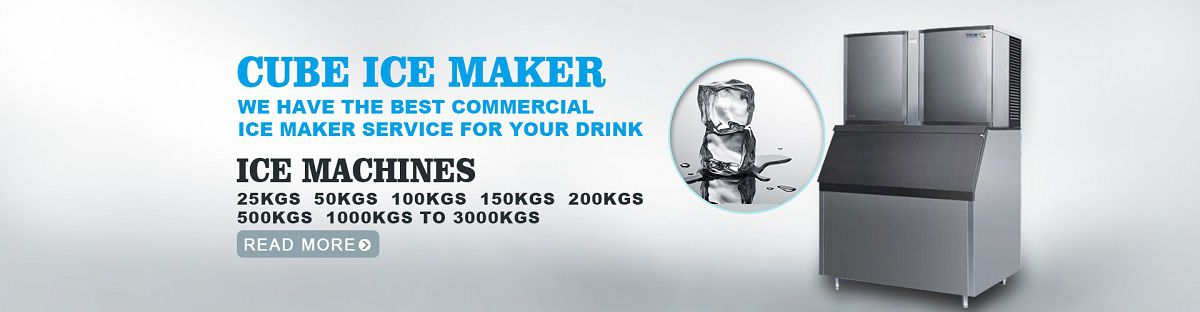Commercial ice cube machine