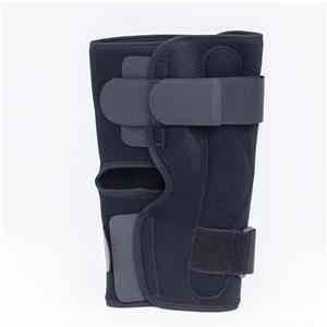 Suporte de joelho articulado de alumínio respirável respirável tipo aberto
