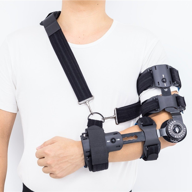 Adjustable ROM Forearm Elbow Brace With Arm Sling