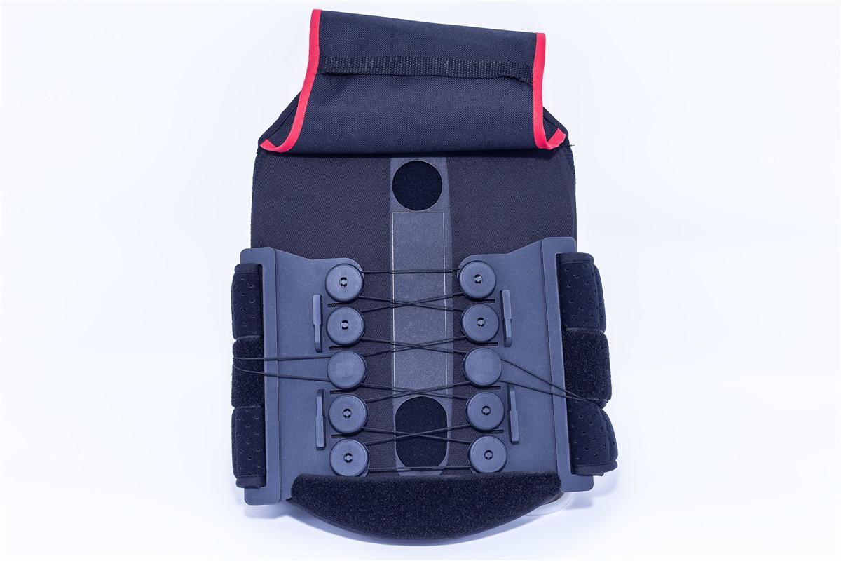 back brace with stays