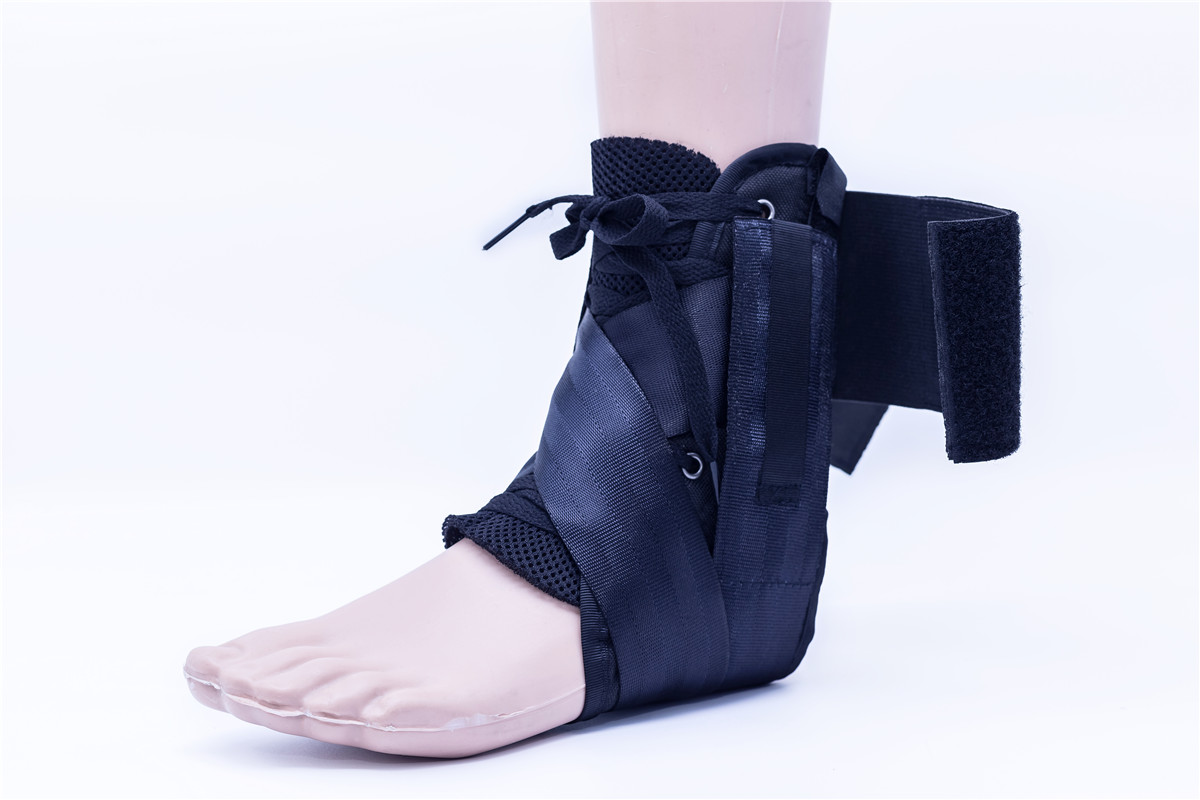 ankle brace with plastic stays