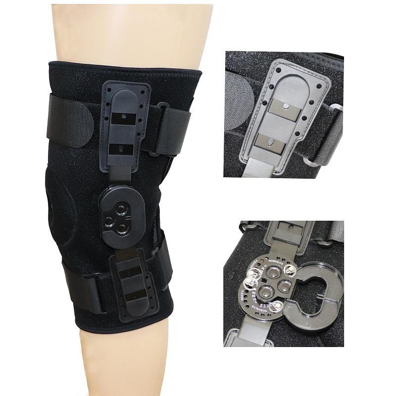 دعامة الركبة المفصلية المفتوحة مع غطاء بلاستيكي