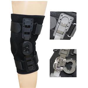 Открытый коленный ортез на шарнире надколенника с пластиковой крышкой