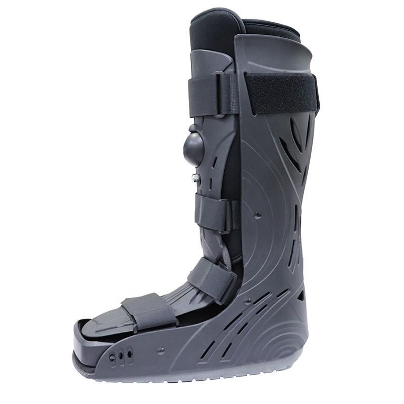 Schwarzer aufblasbarer Full Shield Hoher orthopädischer Wanderstiefel