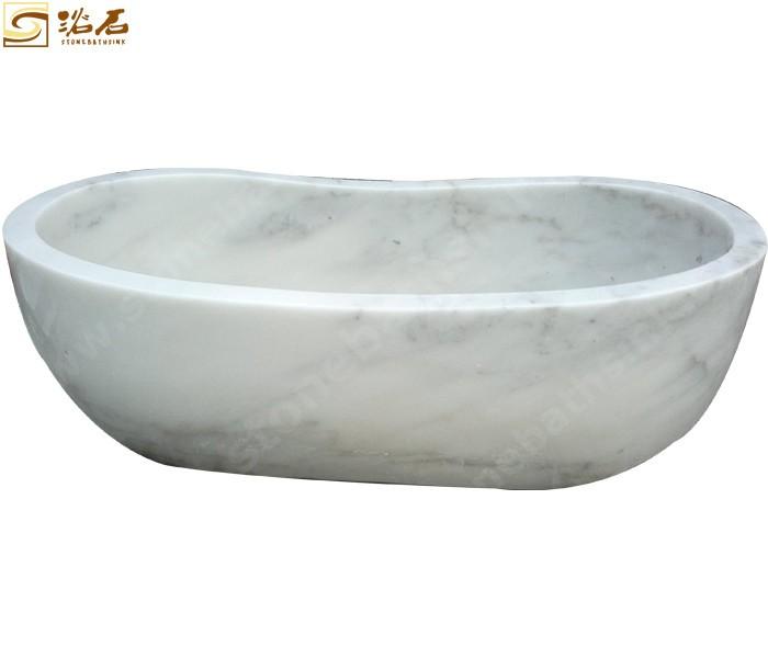 Bianco Carrara Marble Free Standing Custom Marble Bathtub