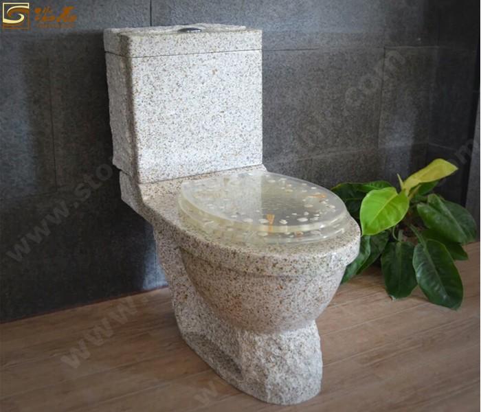 Yellow Rust Granite Toilet