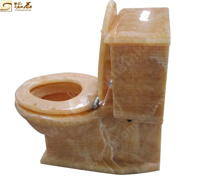 Nature Stone Honey Onyx Morden Toilet