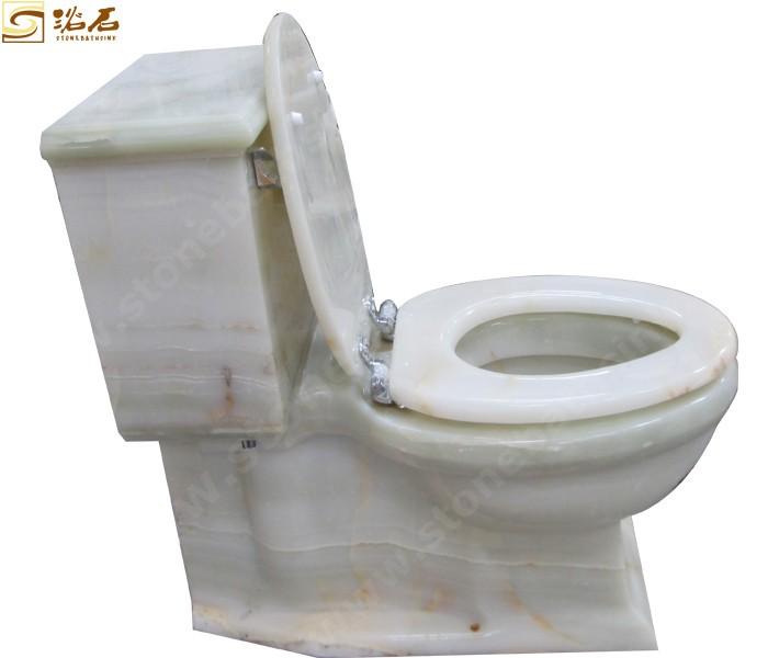 White Onyx Toilet