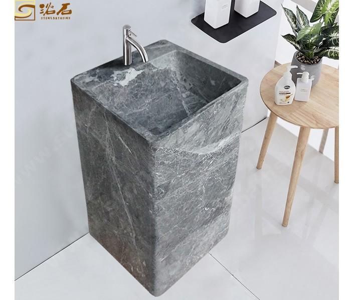 Hermes Grey Marble Free Standing Sink
