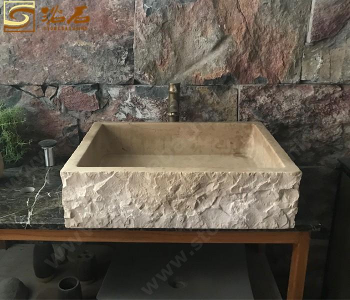 Classica Beige Marble Rectangular Sink Manufacturers, Classica Beige Marble Rectangular Sink Factory, Supply Classica Beige Marble Rectangular Sink