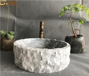 China Carrara White Marble Washbasin