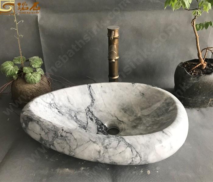 China Carrara White Marble Counter Sink