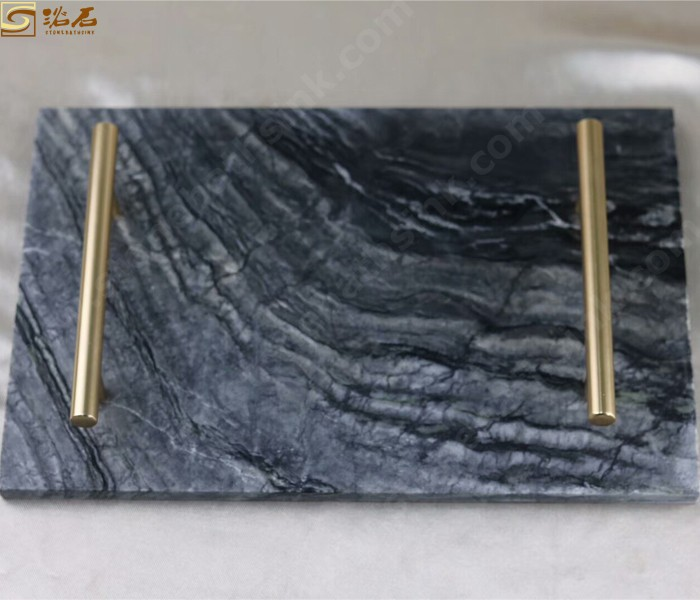 Ancient Wood Marble Rectangle Platter