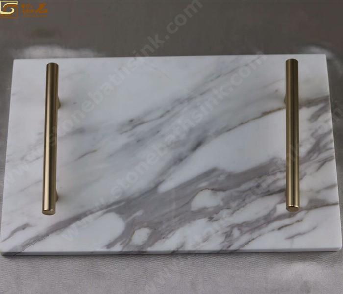 Ariston White Marble Platter
