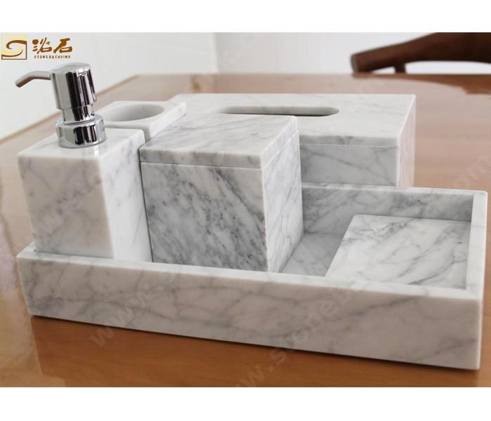 Carrara White Marble Bathrom Accessories and Tissue Box Manufacturers, Carrara White Marble Bathrom Accessories and Tissue Box Factory, Supply Carrara White Marble Bathrom Accessories and Tissue Box
