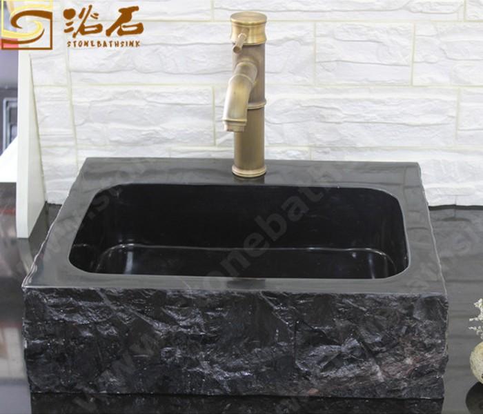 Black Jade Marble Sink