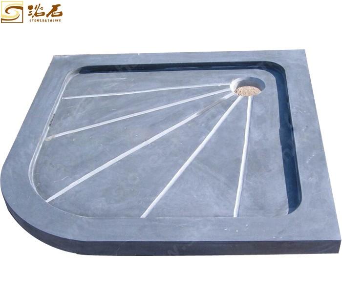 Blue Limestone Honed Shower Tray