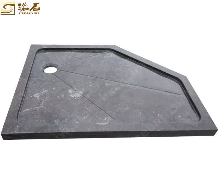 Blue Limestone Pentagon Shower Tray