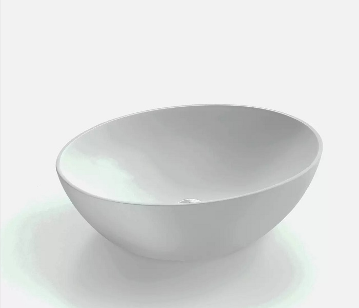 White round resin solid surface basin