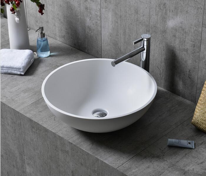 White round resin solid surface basin Manufacturers, White round resin solid surface basin Factory, Supply White round resin solid surface basin