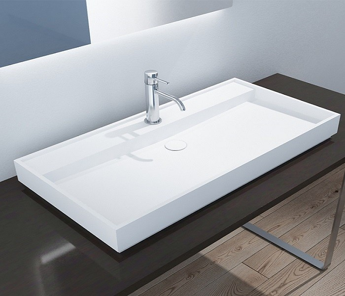 Solid Surface Countertop Basin Integrated Rectangular Bathroom Sink Manufacturers, Solid Surface Countertop Basin Integrated Rectangular Bathroom Sink Factory, Supply Solid Surface Countertop Basin Integrated Rectangular Bathroom Sink