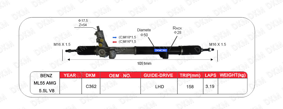 steering rack and pinion
