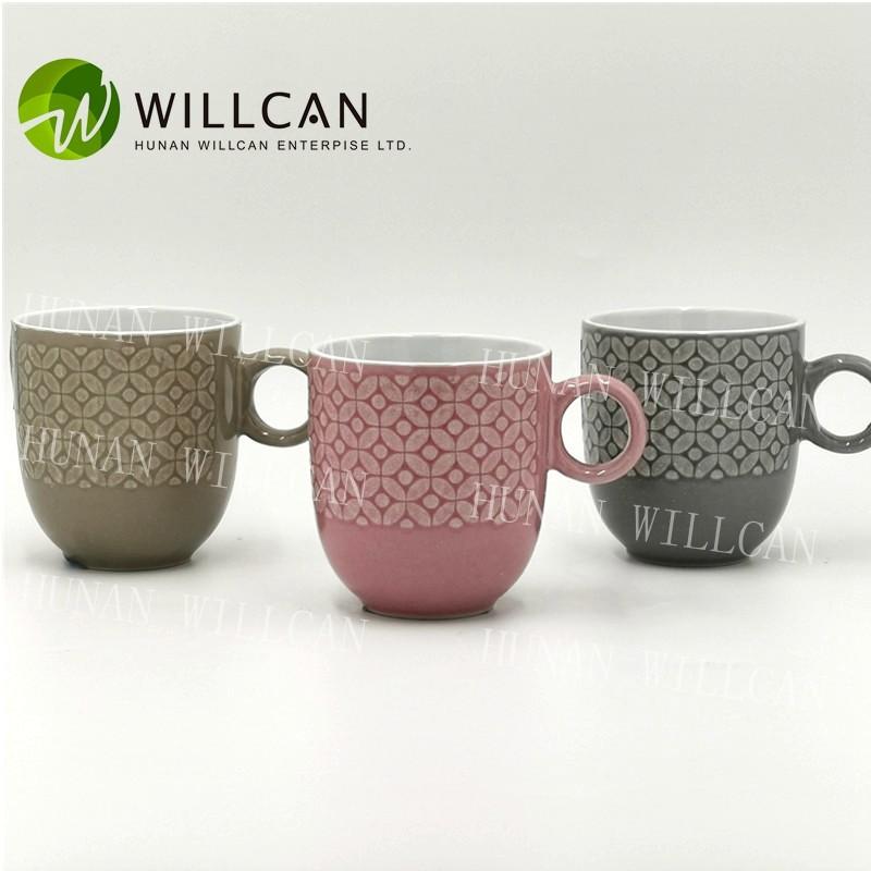 Reactive Glaze Tea Mug With Round Handle