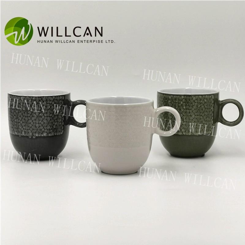 Cool Reactive Glaze Tea Mug With Round Handle