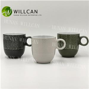 Cool Reactive Glaze Tea Mug With Round Handle