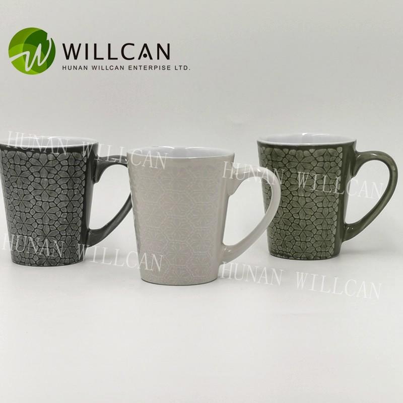 Cool Reactive Glaze V Shape Coffee Mug Manufacturers, Cool Reactive Glaze V Shape Coffee Mug Factory, Supply Cool Reactive Glaze V Shape Coffee Mug