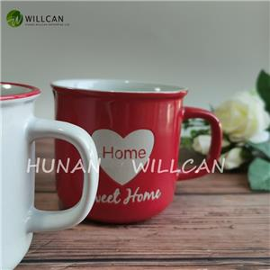 Sweet Home Hand Painted Enamel Mugs