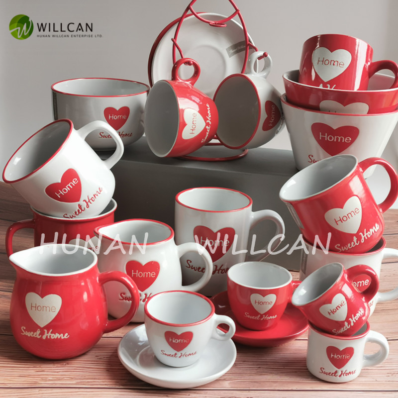 hand painted enamel mugs