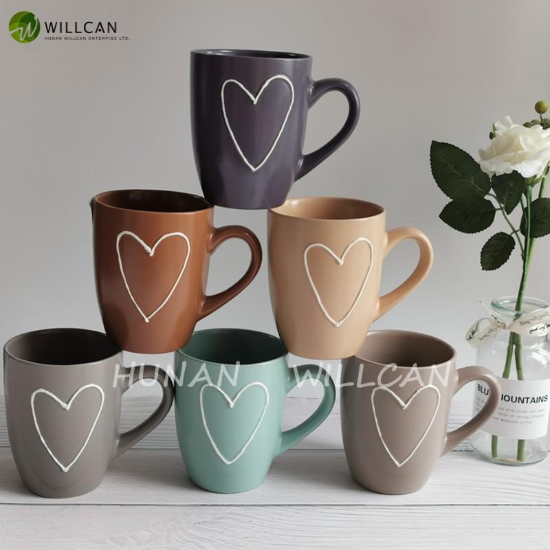 Vintage Heart Painted Coffee Mug Manufacturers, Vintage Heart Painted Coffee Mug Factory, Supply Vintage Heart Painted Coffee Mug