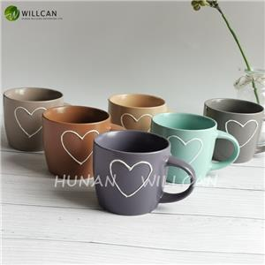 Vintage Heart Painted Dream Mug