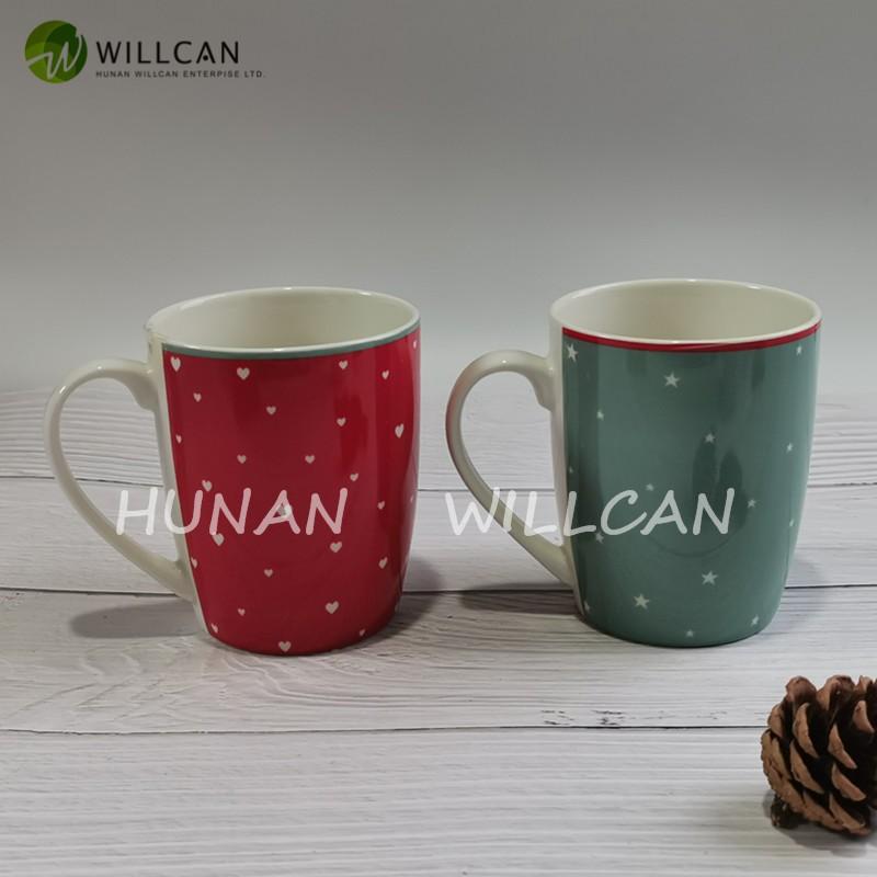 Christmas Love Green And Red Milk Mug With Decal Manufacturers, Christmas Love Green And Red Milk Mug With Decal Factory, Supply Christmas Love Green And Red Milk Mug With Decal