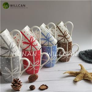 Multicolor Christmas Gift Coffee Mug Set
