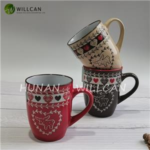 Hand Painted Reindeer Christmas Mug