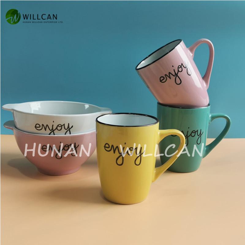 glazed stoneware mugs