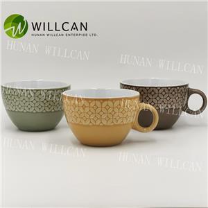 Stoneware Reactive Glaze Soup Cup