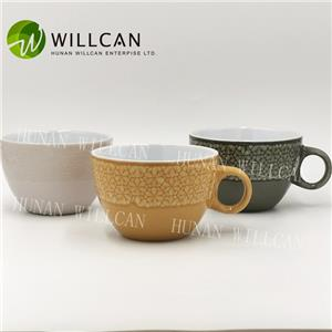 Cool Reactive Glaze Soup Cup