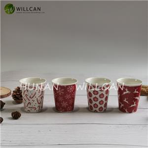 Christmas Gift Red And White Egg Cup