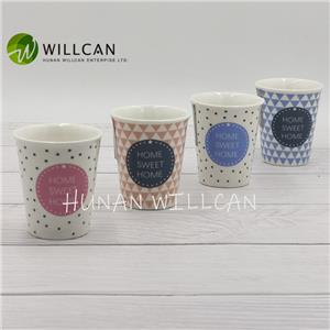 Household Modern Ceramic Egg Cup With Decal