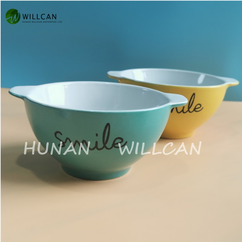 Colorful Smile Hand Painted Bowl With Handle Manufacturers, Colorful Smile Hand Painted Bowl With Handle Factory, Supply Colorful Smile Hand Painted Bowl With Handle