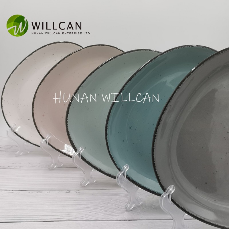 Shaped Speckled With Lid Dinner Plate Manufacturers, Shaped Speckled With Lid Dinner Plate Factory, Supply Shaped Speckled With Lid Dinner Plate